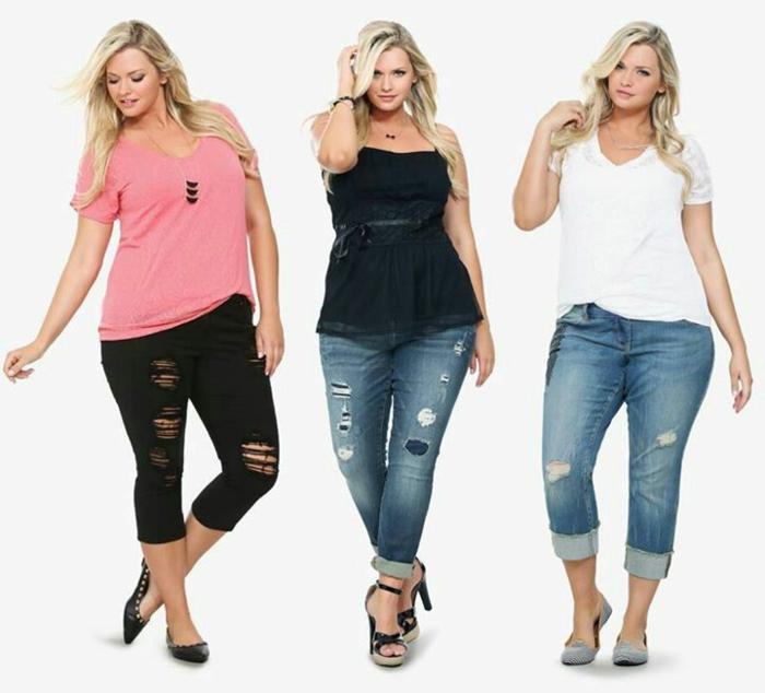 Kövér, nő, ad, feláll, fárasztó, neki, szoros, farmernadrág Stock Kép | k | Fotosearch