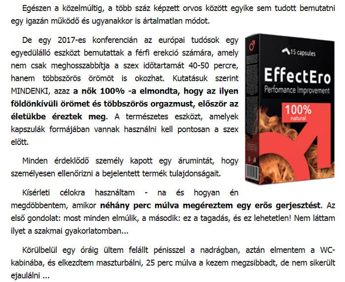 termékek a hatékonyság és az erekció növelésére)